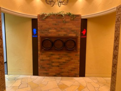 談合坂SA下りのトイレのエントランス