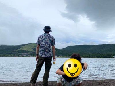 曇りの山中湖