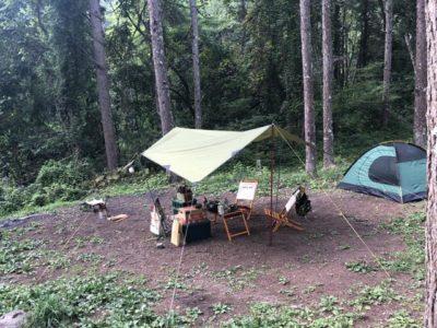 立場川キャンプ場テントサイト