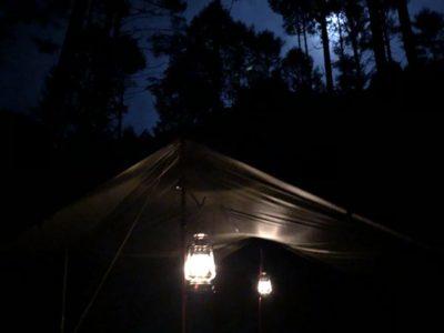 夜の立場川キャンプ場