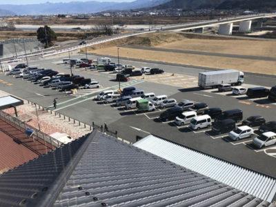太鼓堂から見た駐車場