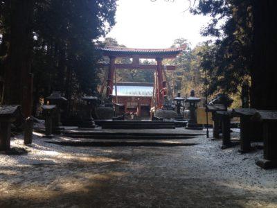 拝殿の前の大鳥居 日本最大木造鳥居