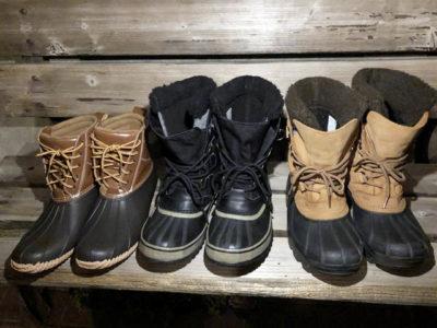 ソレルとワークマンの防寒ブーツ