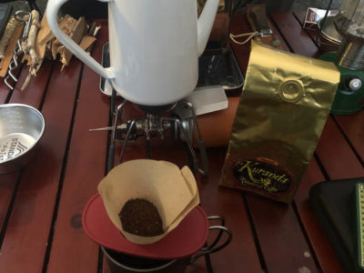 まずはコーヒー