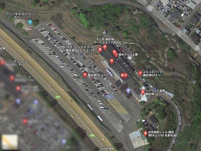 長細い駐車場