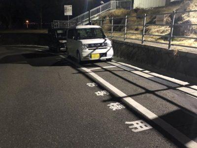 2台の駐車スペースしかない