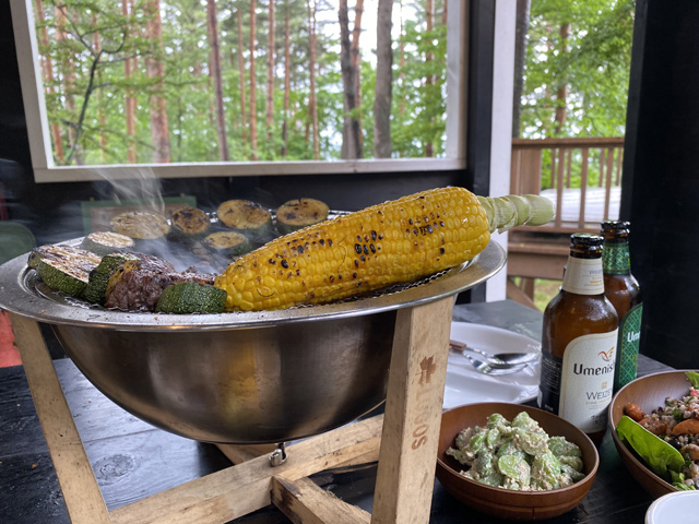 雨の森で素敵ご飯