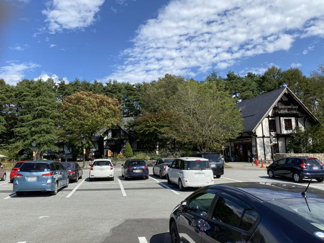 駐車してる車は東海や関東全域から訪れています